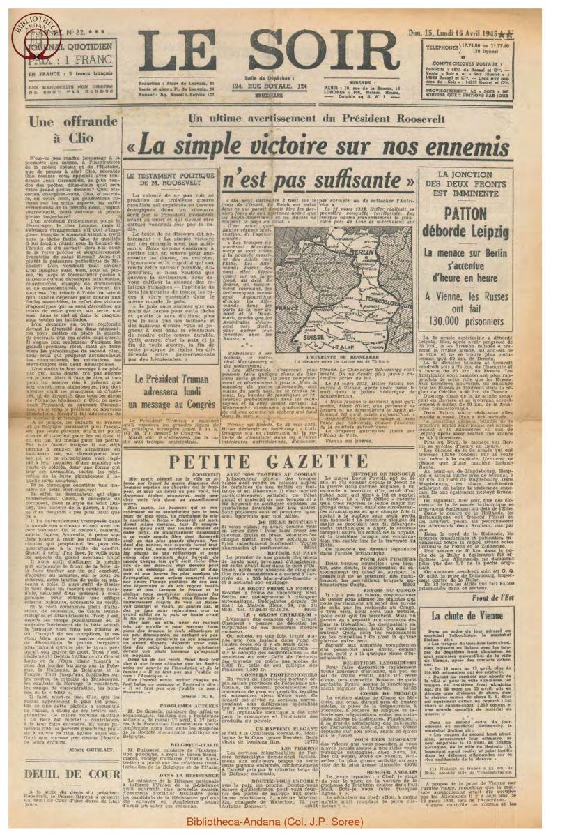 1945-04-16 Le Soir