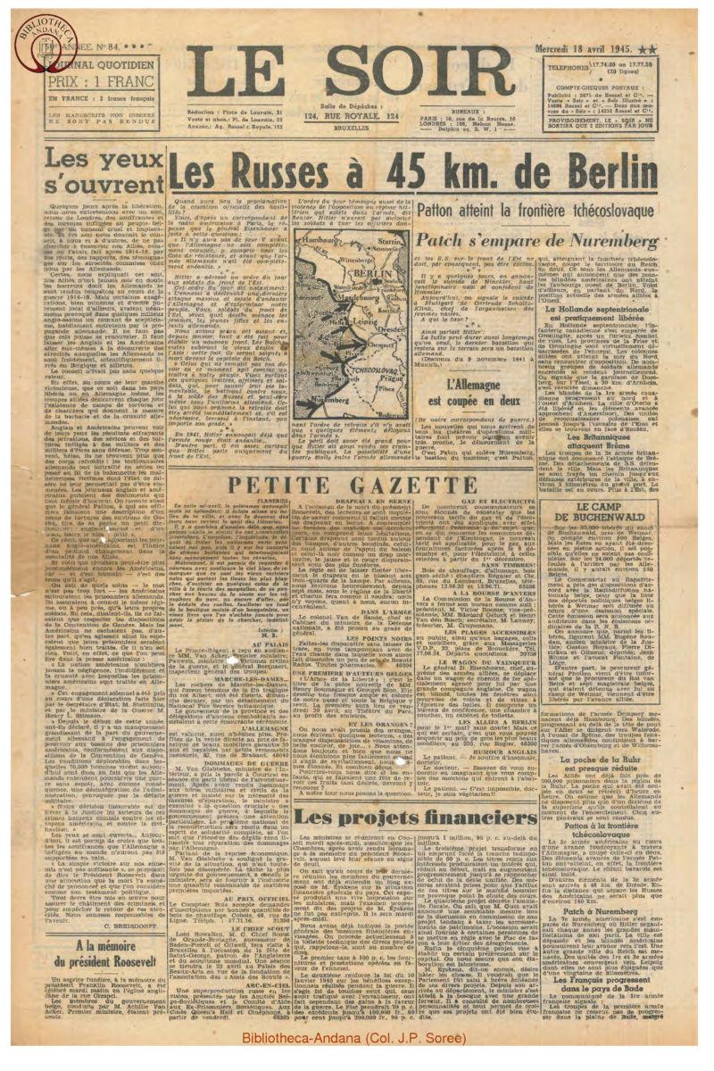 1945-04-18 Le Soir