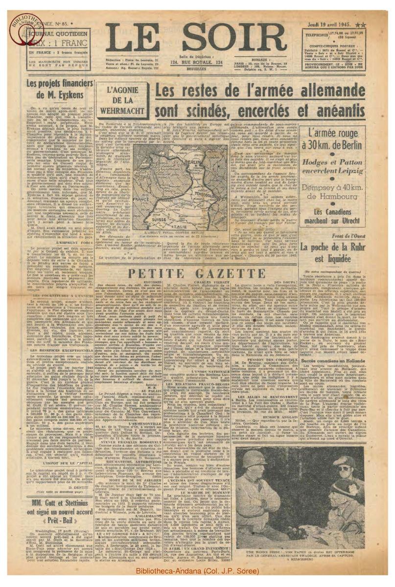 1945-04-19 Le Soir