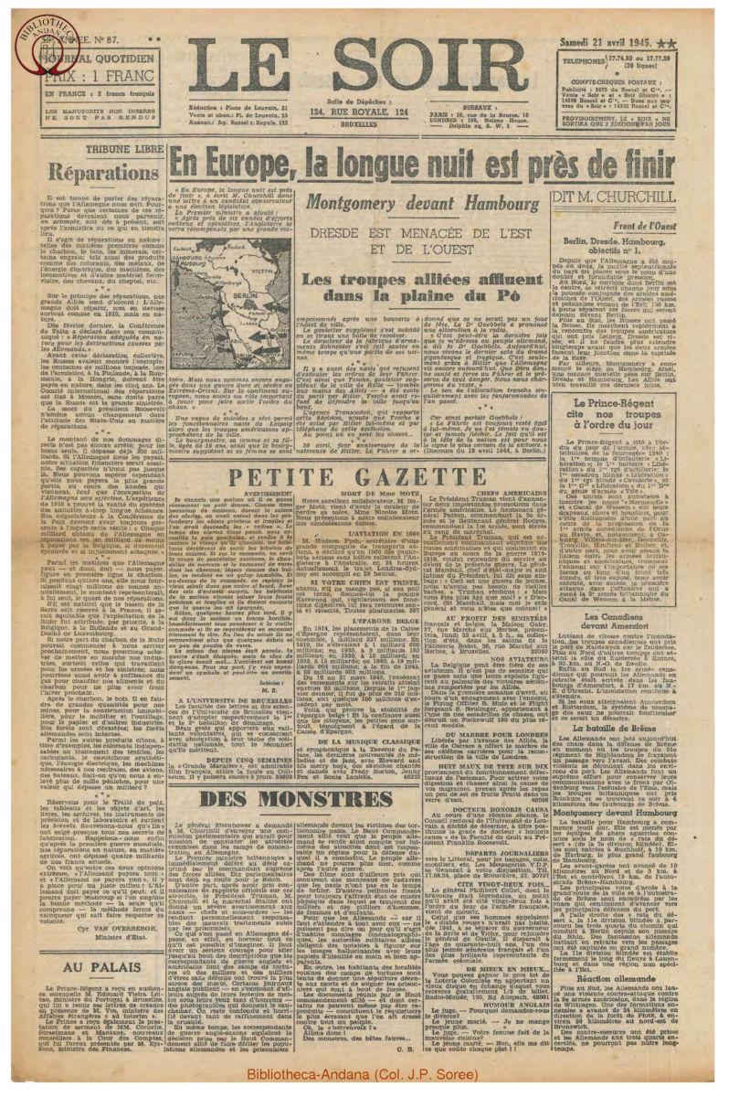 1945-04-21 Le Soir