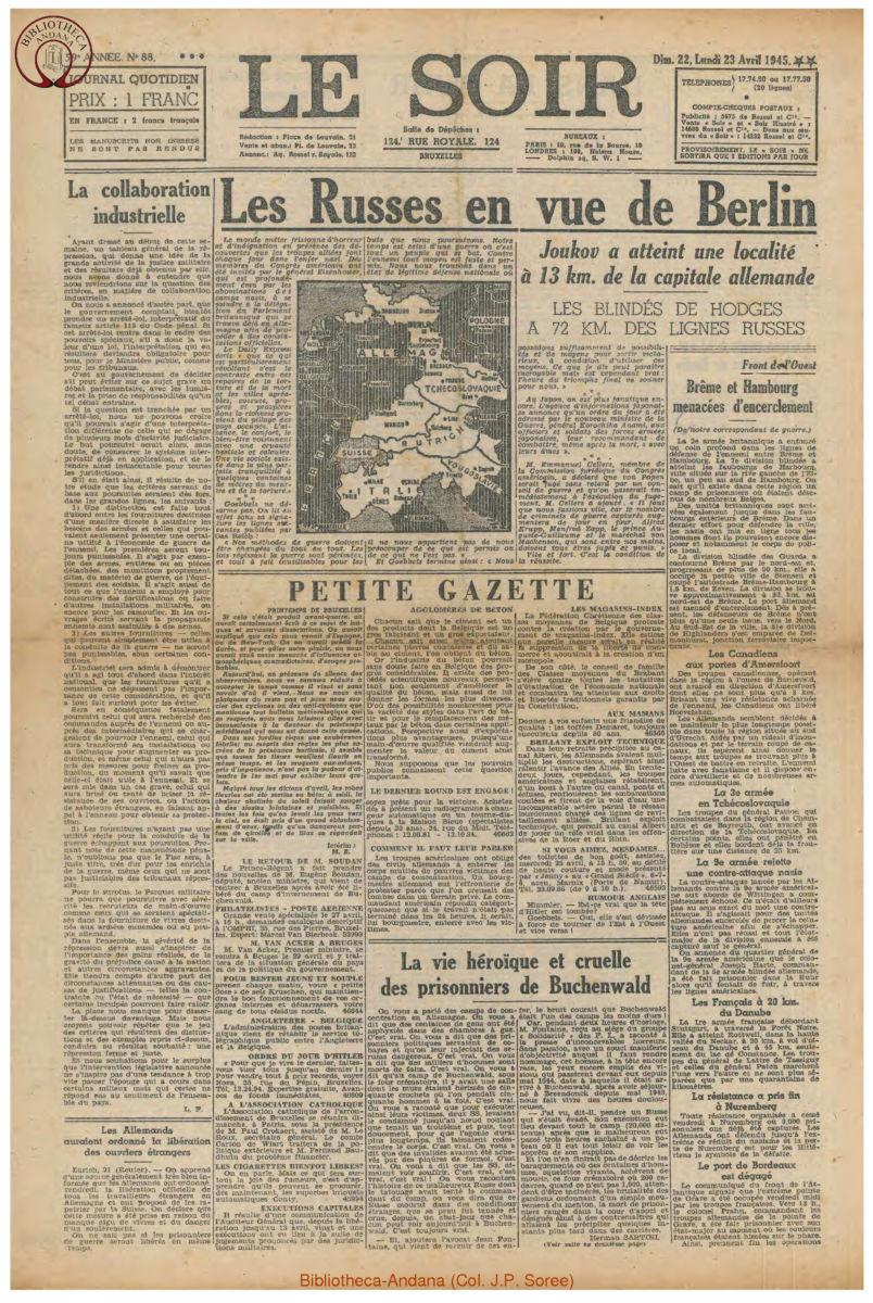 1945-04-23 Le Soir