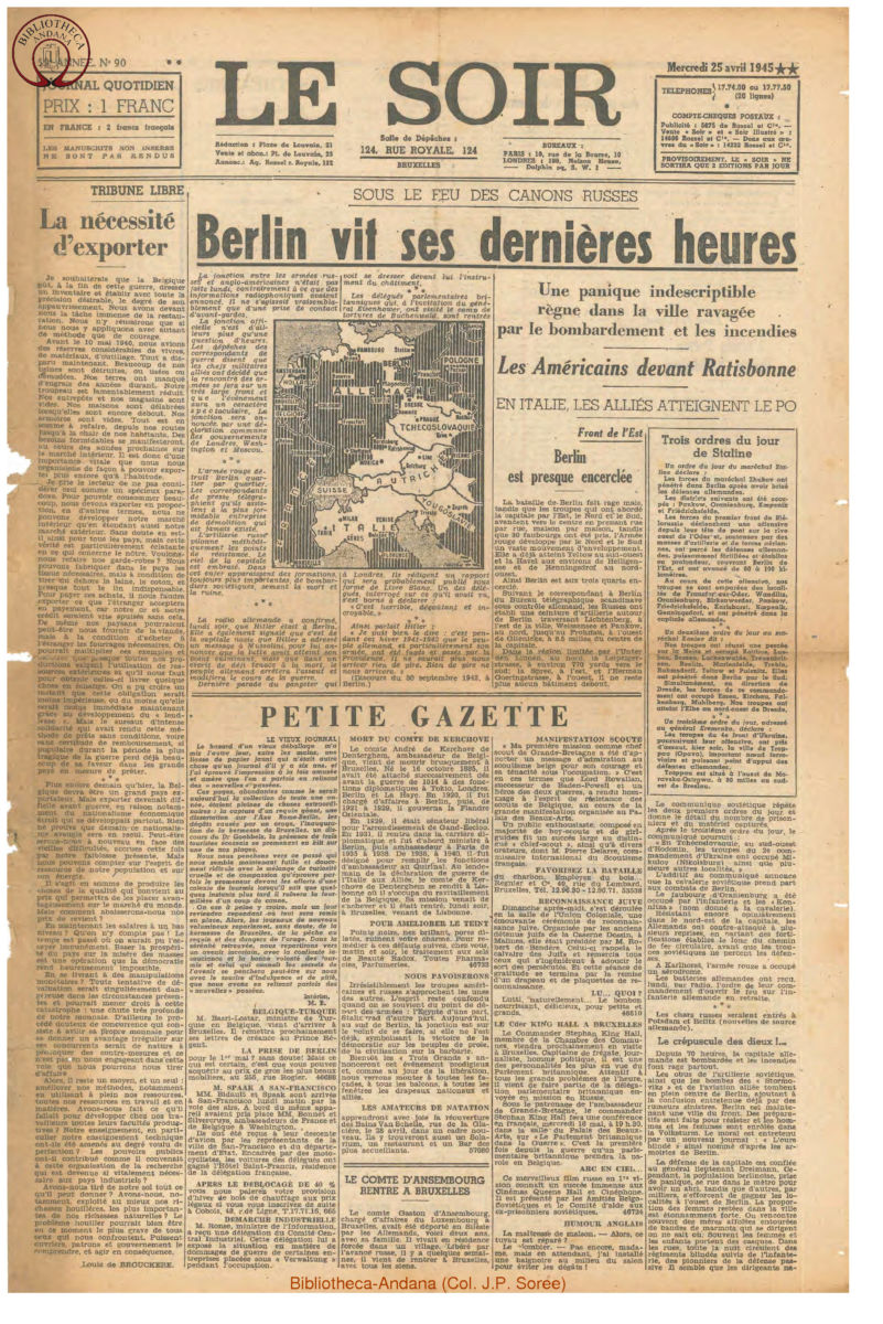 1945-04-25 Le Soir