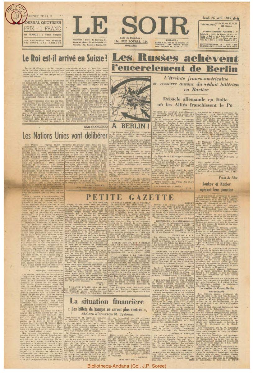 1945-04-26 Le Soir