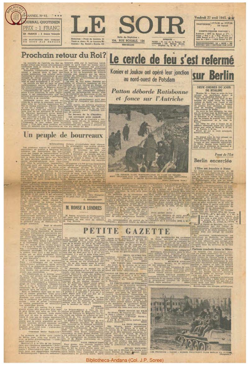 1945-04-27 Le Soir