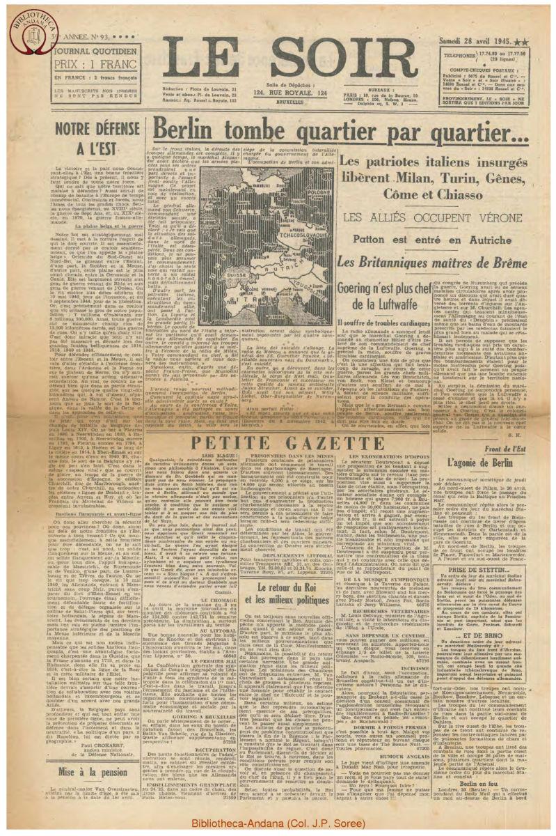 1945-04-28 Le Soir