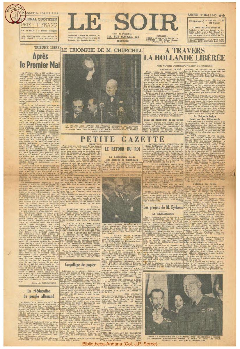 1945-05-12 Le Soir