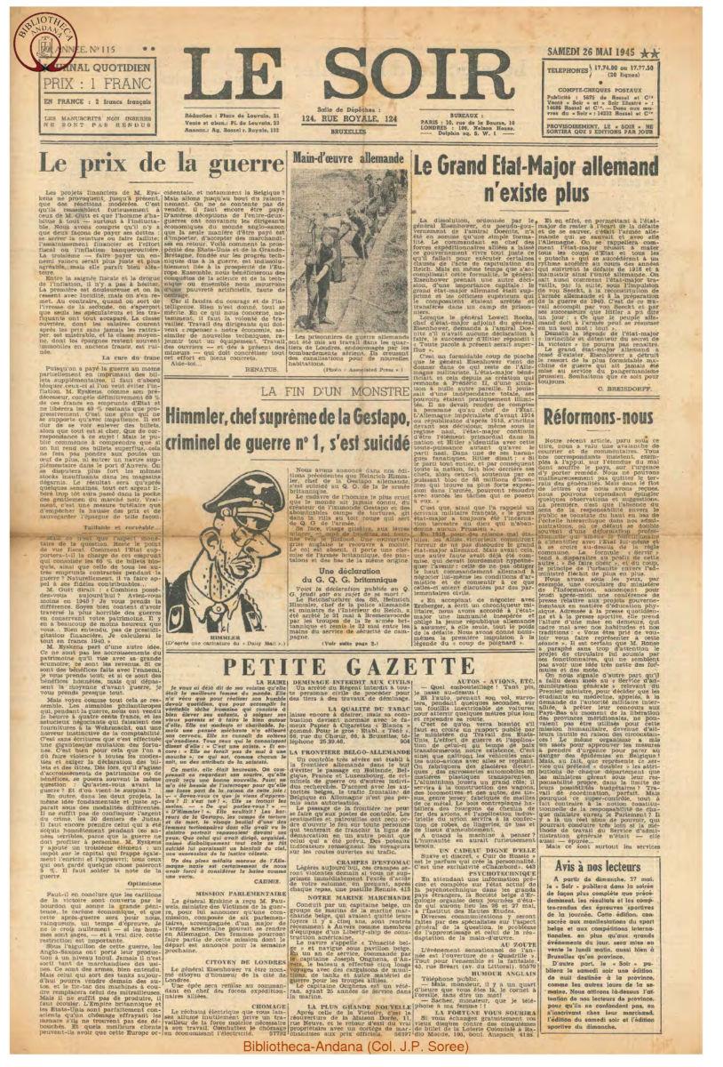 1945-05-26 Le Soir
