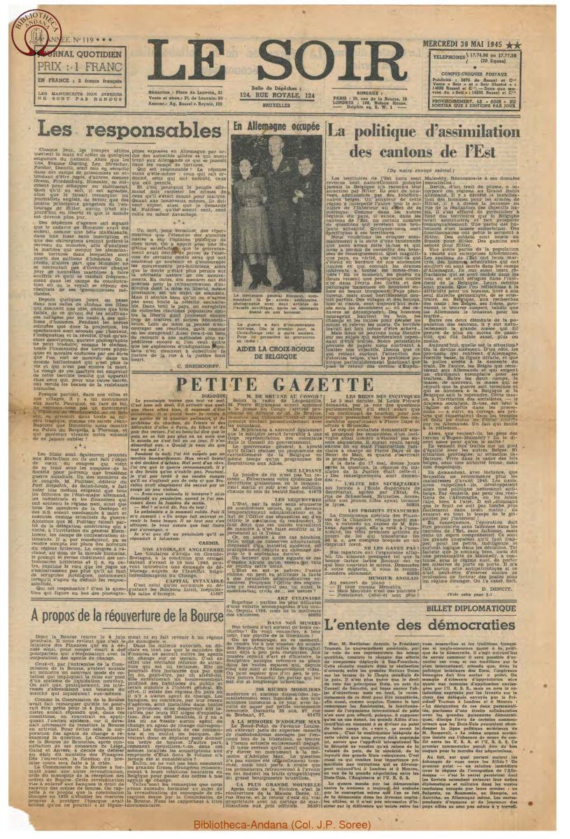 1945-05-30 Le Soir