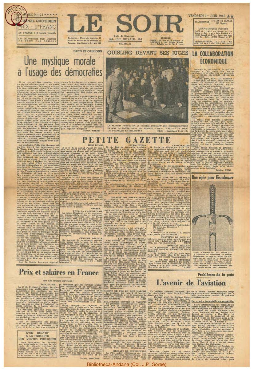 1945-06-01 Le Soir