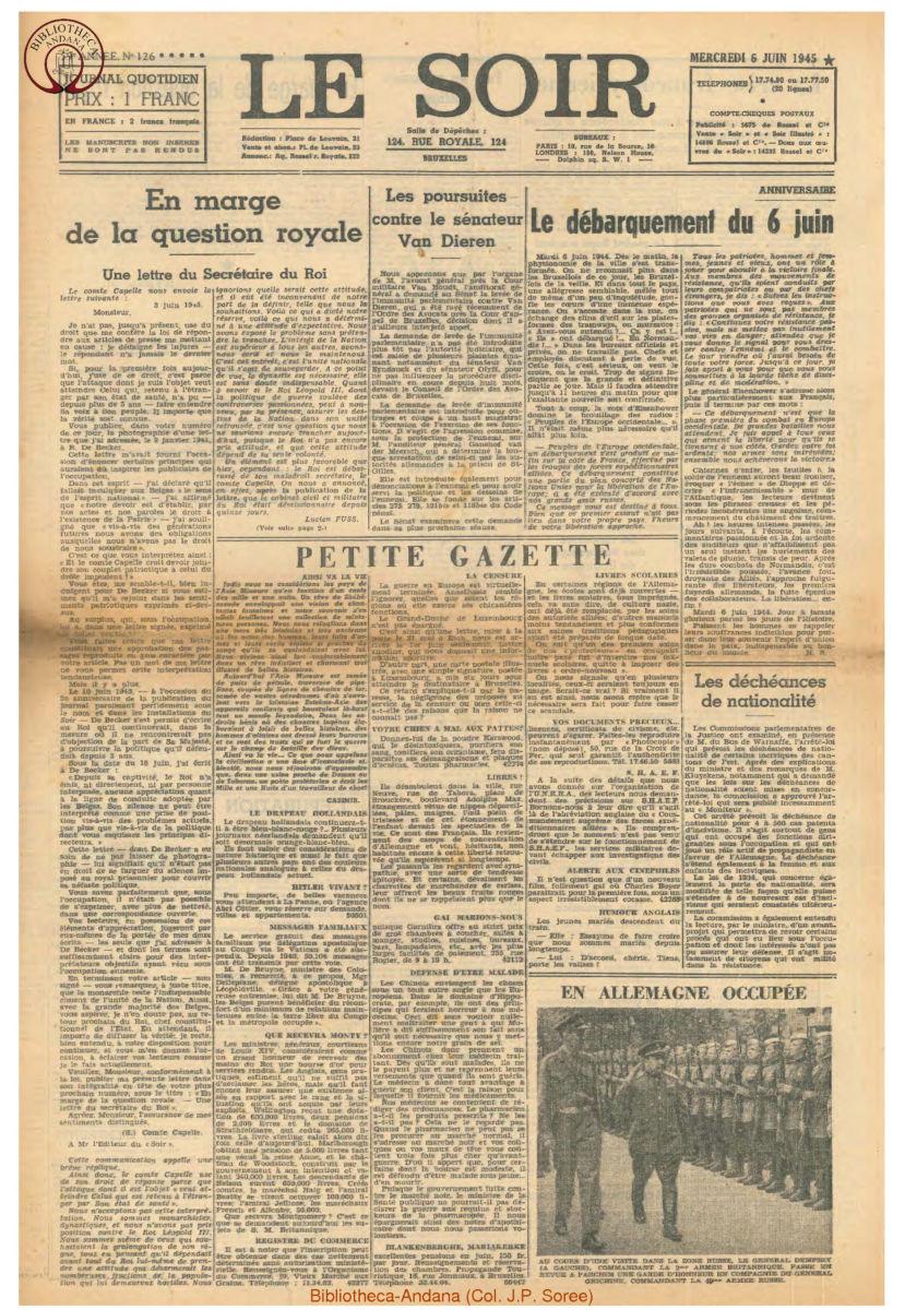 1945-06-06 Le Soir