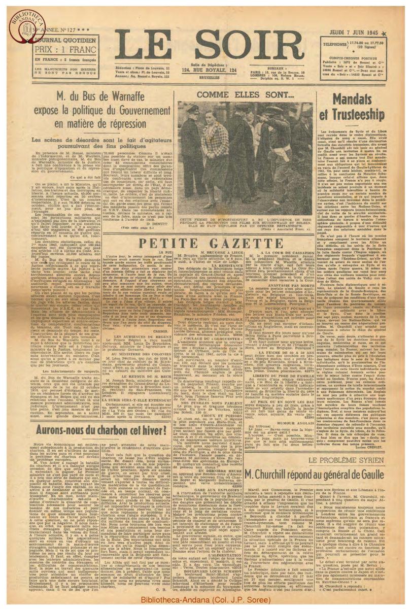 1945-06-07 Le Soir