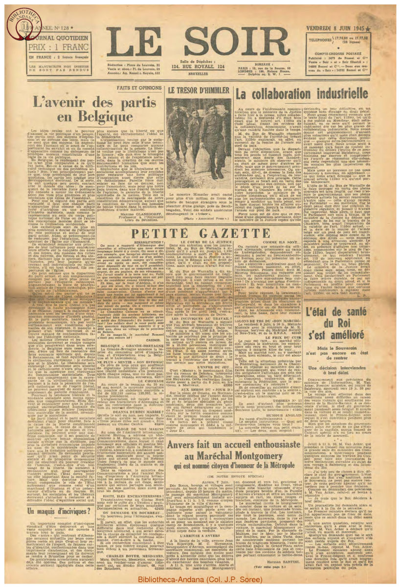 1945-06-08 Le Soir