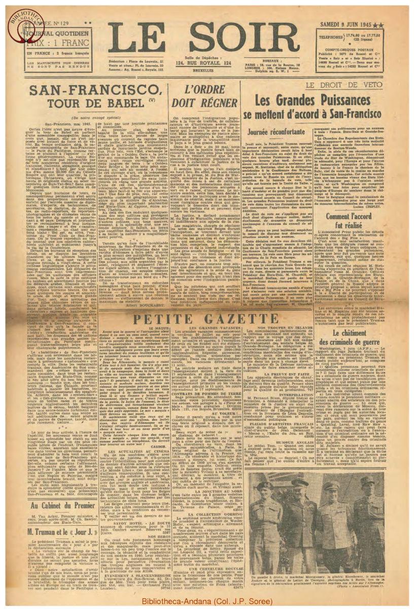 1945-06-09 Le Soir