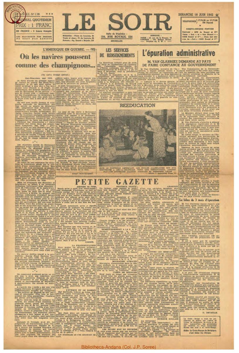 1945-06-10 Le Soir