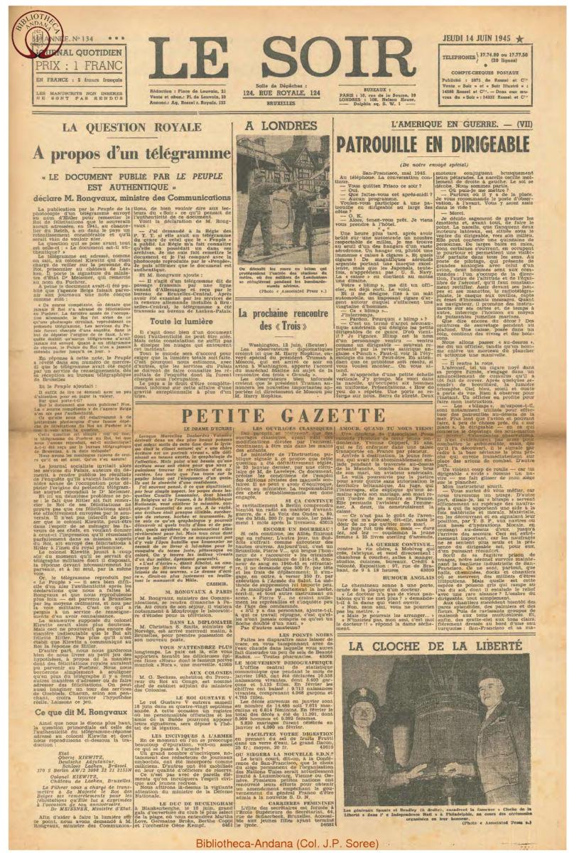 1945-06-14 Le Soir