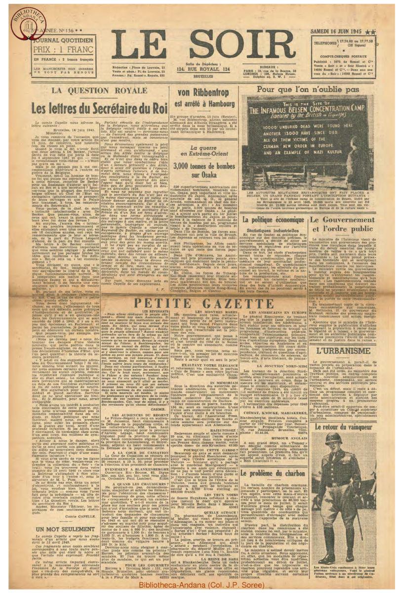 1945-06-16 Le Soir