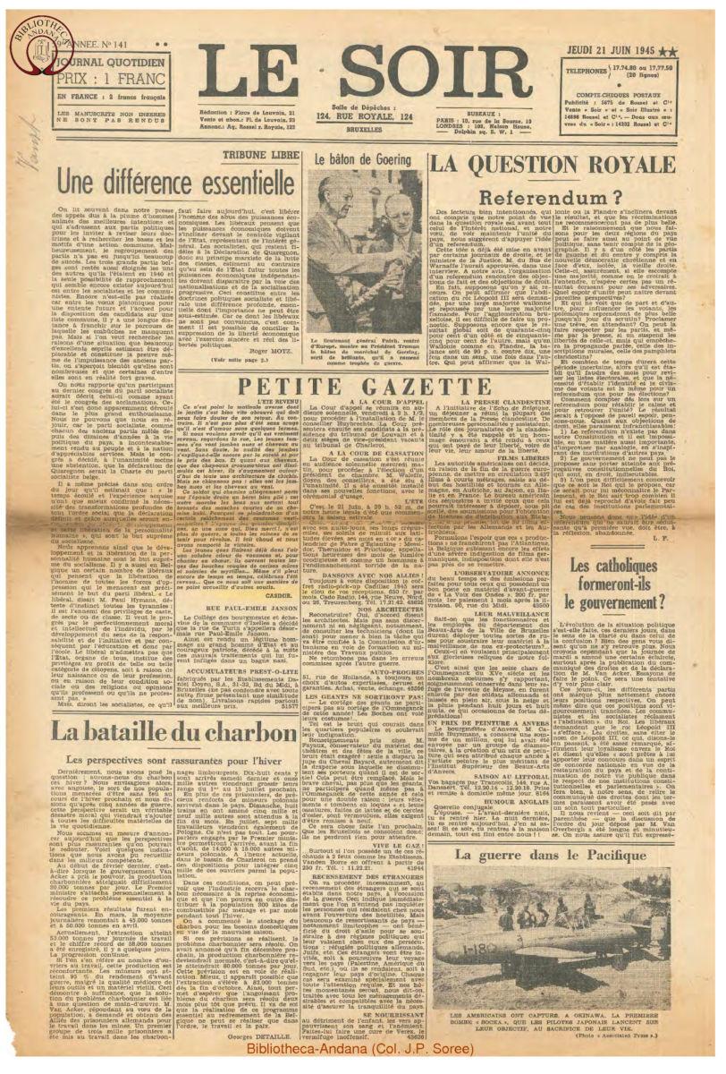1945-06-21 Le Soir