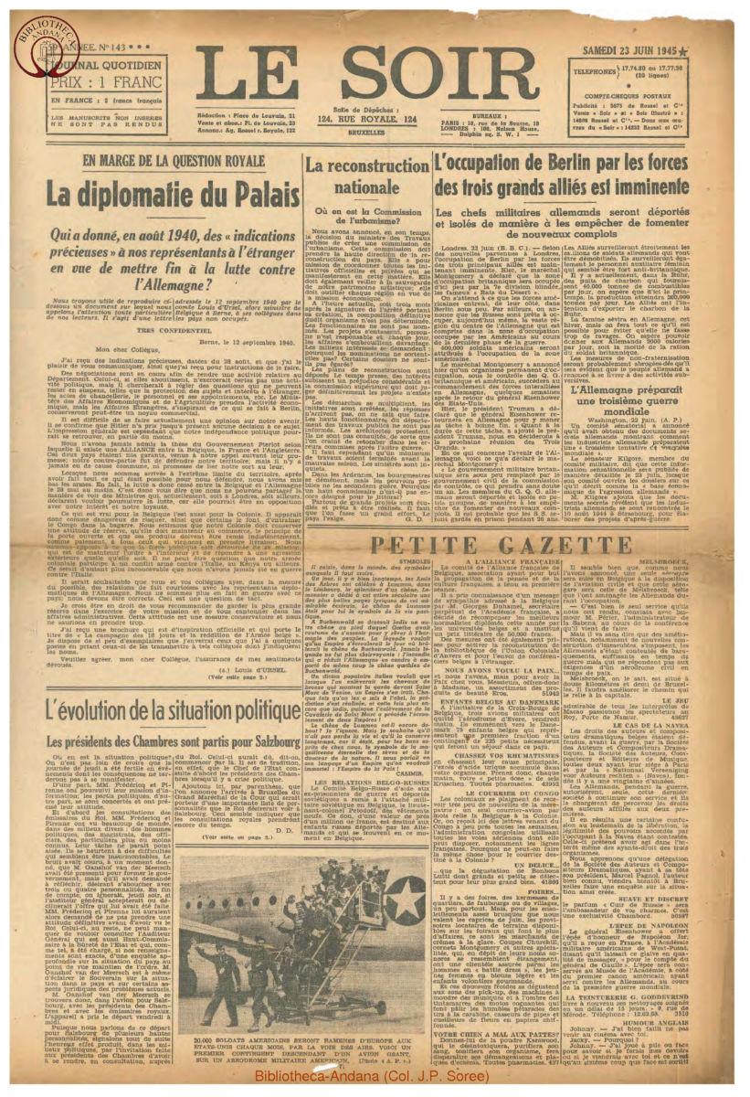 1945-06-23 Le Soir