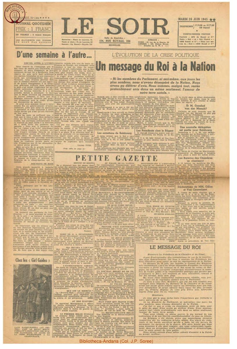 1945-06-26 Le Soir