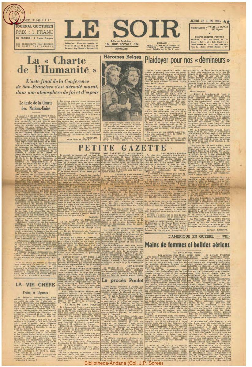 1945-06-28 Le Soir