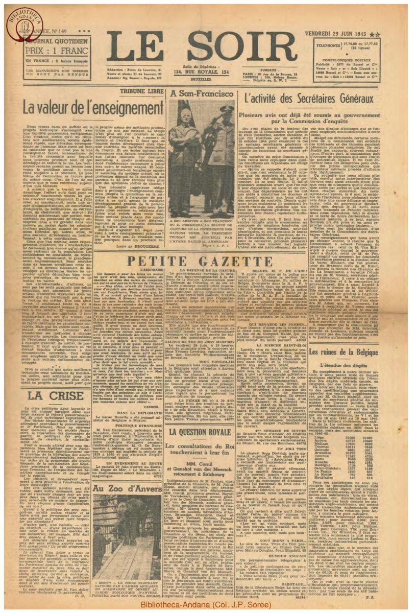 1945-06-29 Le Soir