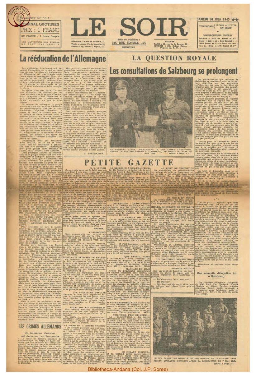 1945-06-30 Le Soir