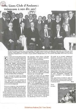 Aux Lions Club d'Andenne: trinquons à nos dix ans