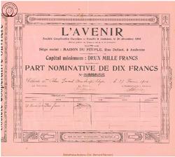 Société Coopérative Ouvrière L'Avenir.