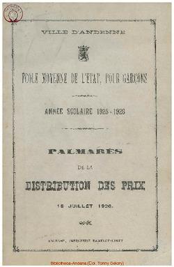 Palmarès 1925 - 1926