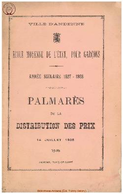 Palmarès 1927 - 1928