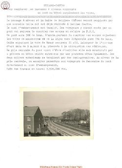 Construction du pont à la halte Seilles Château