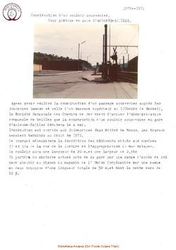 Construction d'un couloir sous voies pour piétons en gare d'Andenne Seilles