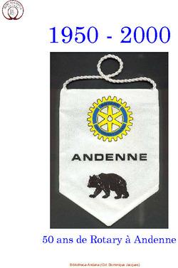 1950 - 2000 - 50 ans de Rotary à Andenne