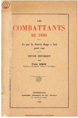 Les Combattants de 1830