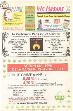 52e année - n°19 - 7 mai 1998