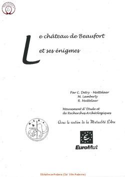 Le Chateau de Beaufort et ses énigmes