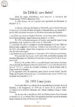 Historique de la Société Belref