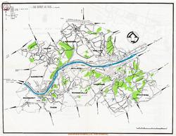 Carte des chemins touristiques 1979