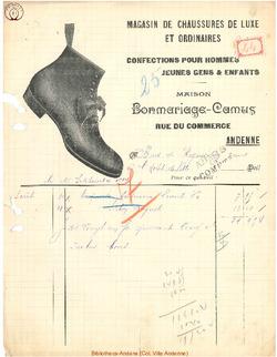 Facture Bonmariage Camus 1914