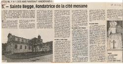 5. Sainte Begge, fondatrice de la cité mosane