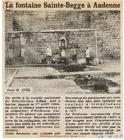 La fontaine Ste Begge à Andenne