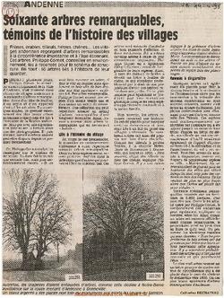 Soixante arbres remarquables, témoins de l'histoire des villages