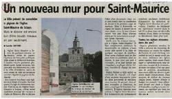 Un nouveau mur pour Saint-Maurice