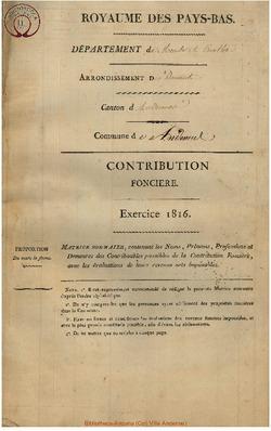 Contribution foncière 1816