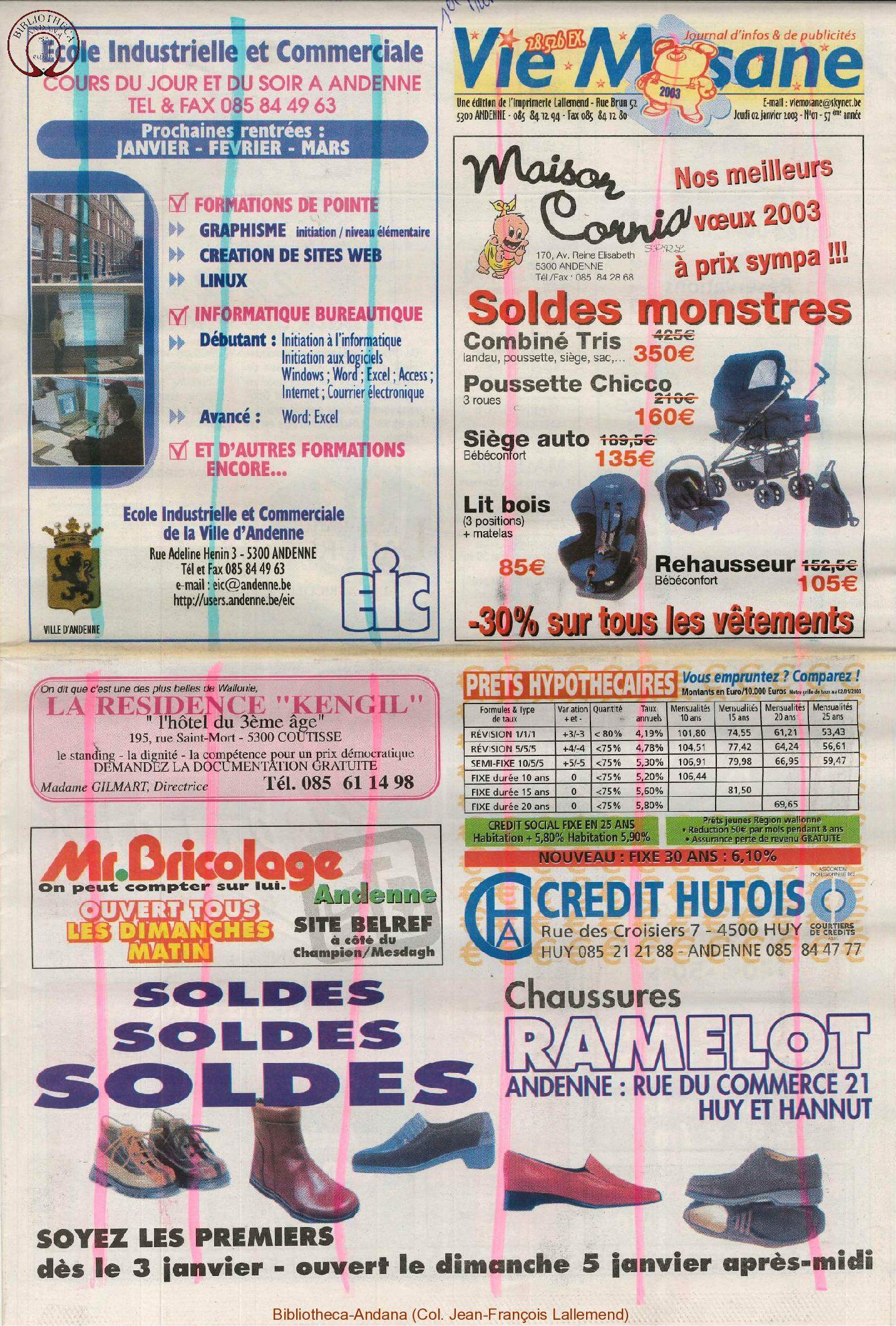57e année - n°1 - 2 janvier 2003