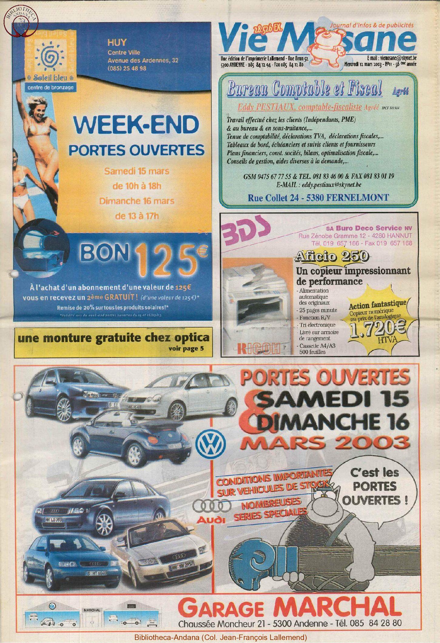 57e année - n°11 - 12 mars 2003