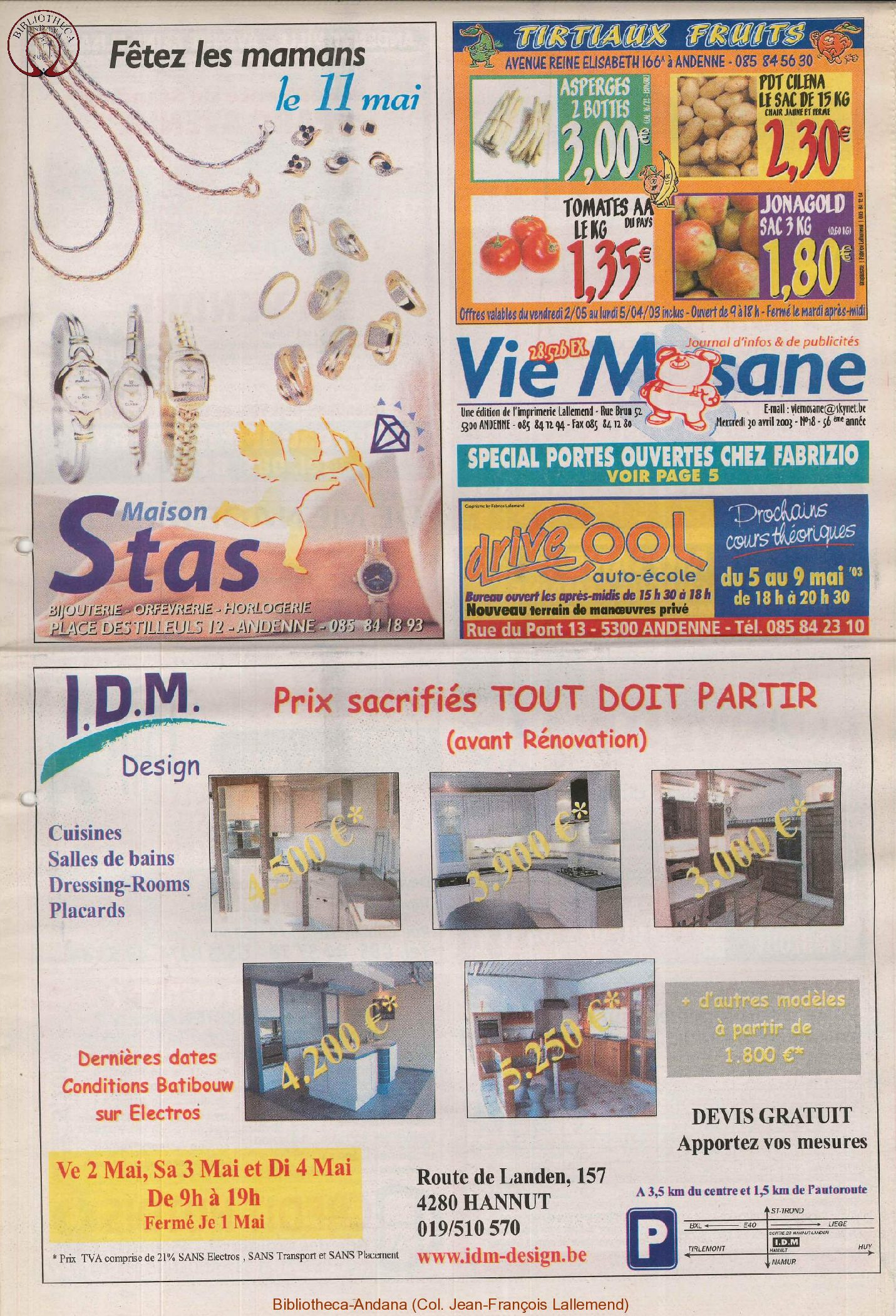 57e année - n°18 - 30 avril 2003