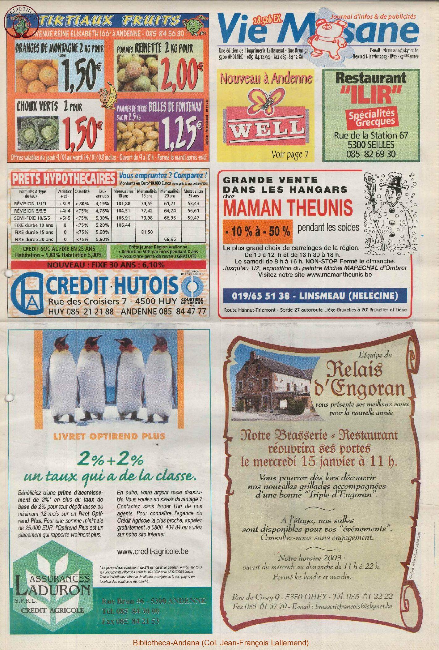 57e année - n°2 - 8 janvier 2003