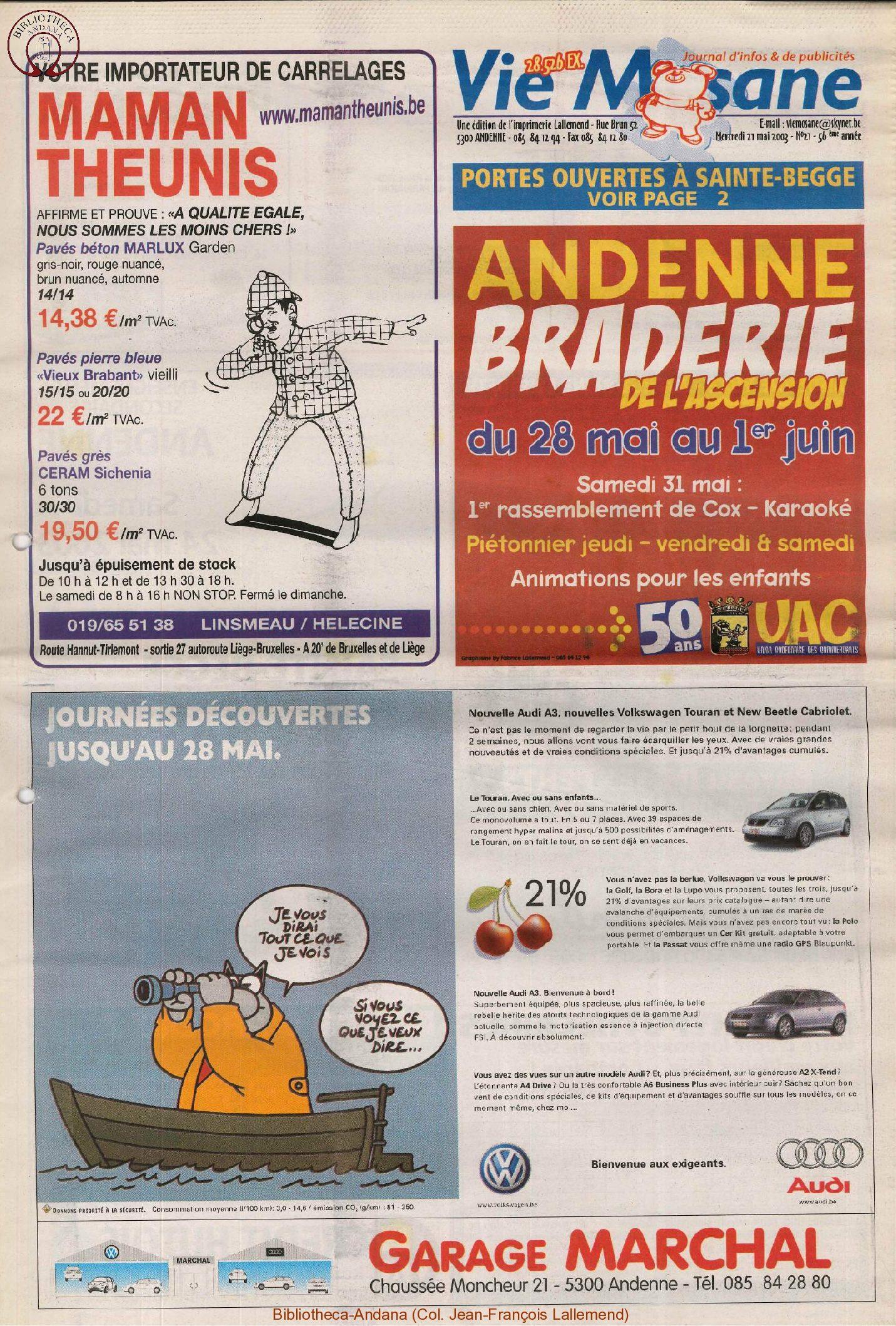 57e année - n°21 - 27 mai 2003
