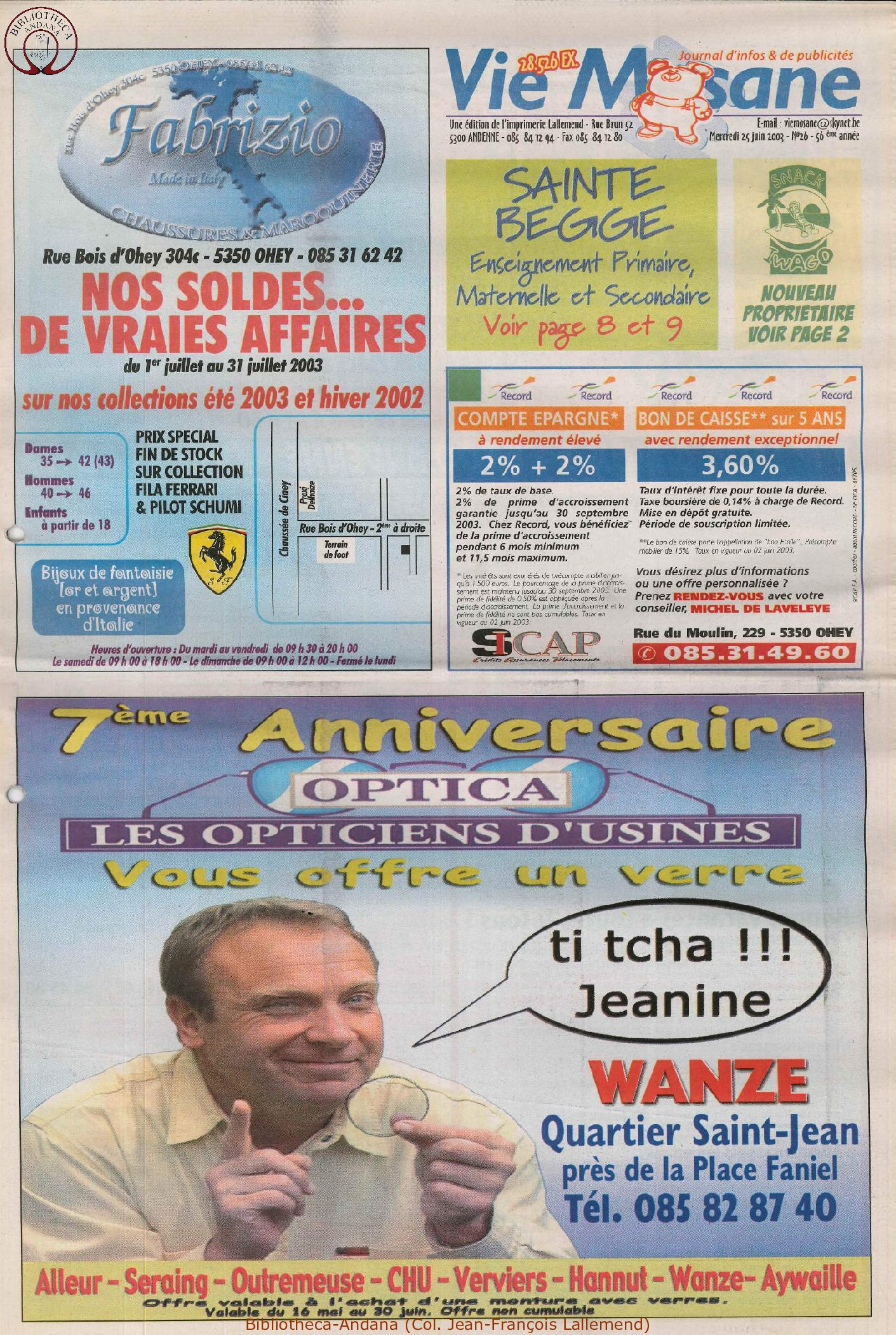 57e année - n°26 - 25 juin 2003